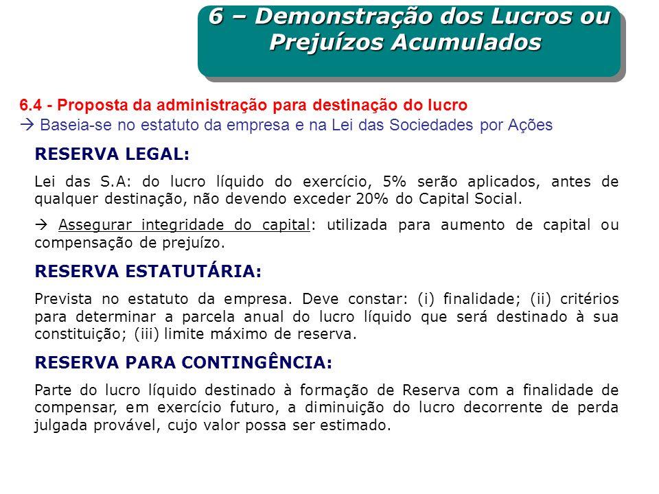 RESERVA ORÇAMENTÁRIA (LUCROS PARA EXPANSÃO): Parcela do lucro líquido retida para expansão da empresa quando prevista em orçamento de capital aprovado em Assembleia Geral.