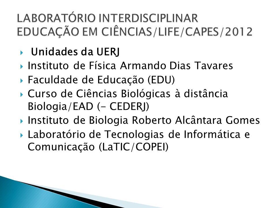 Unidades da UERJ Instituto de Física Armando Dias Tavares Faculdade de Educação (EDU) Curso de Ciências Biológicas à distância Biologia/EAD (- CEDERJ)