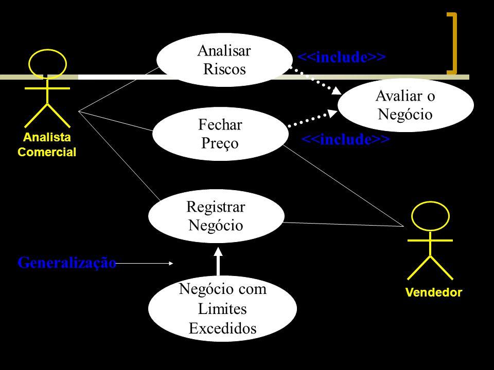Analista Comercial Vendedor Analisar Riscos Fechar Preço Avaliar o Negócio Registrar Negócio > Negócio com Limites Excedidos Generalização