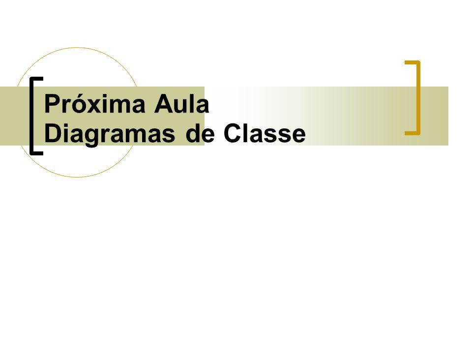 Próxima Aula Diagramas de Classe
