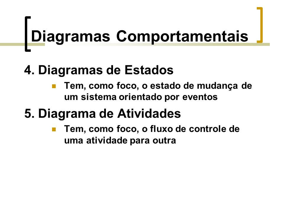 Diagramas Comportamentais 4.