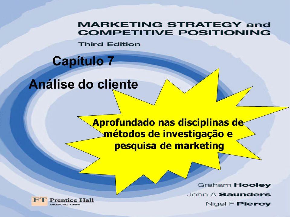 Capítulo 7 Análise do cliente Aprofundado nas disciplinas de métodos de investigação e pesquisa de marketing