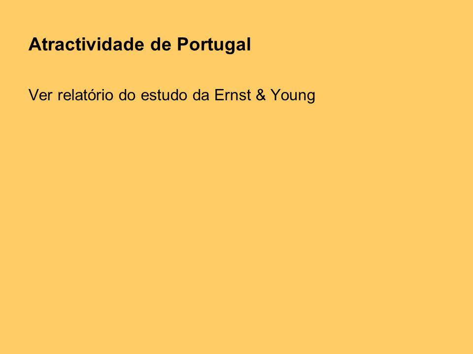 Atractividade de Portugal Ver relatório do estudo da Ernst & Young