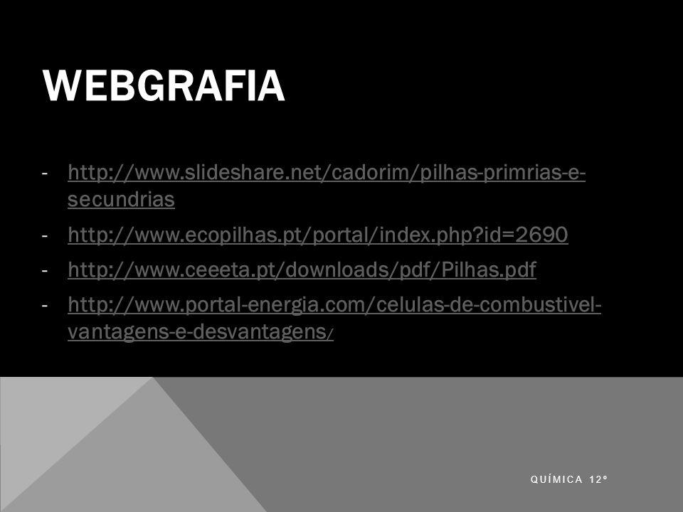 WEBGRAFIA -http://www.slideshare.net/cadorim/pilhas-primrias-e- secundriashttp://www.slideshare.net/cadorim/pilhas-primrias-e- secundrias -http://www.