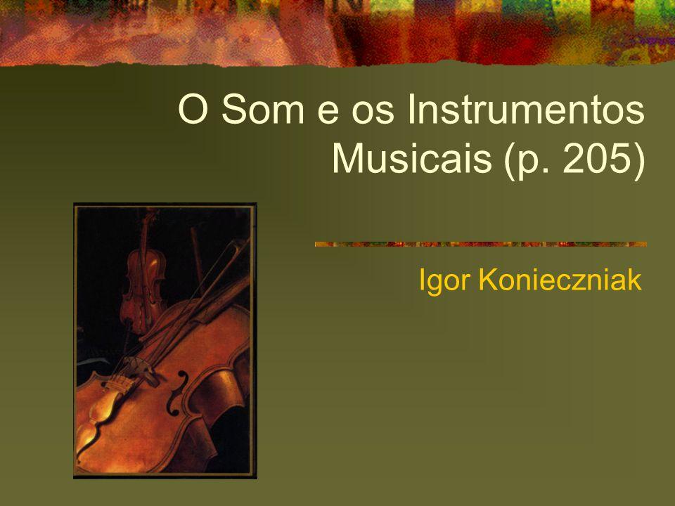 O Som e os Instrumentos Musicais (p. 205) Igor Konieczniak