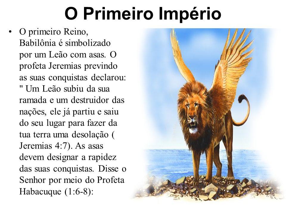 Daniel 7 Os Reinos aqui preditos são paralelos aos que haviam sido mostrados, anos antes o Rei Nabucodonosor de Babilônia mediante uma estátua simbólica em sonho.