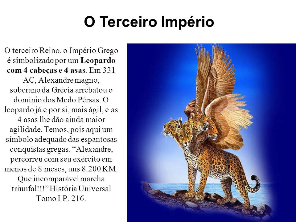 O segundo reino, a Média e a Pérsia são representados por um Urso.