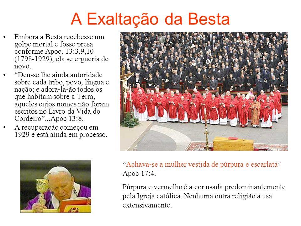 A Primeira Besta Apocalipse 13:1-10 Da Grécia a Besta herdou a filosofia da imortalidade da alma e a filosofia.