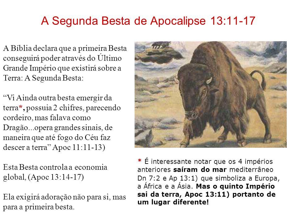 A Exaltação da Besta Embora a Besta recebesse um golpe mortal e fosse presa conforme Apoc.