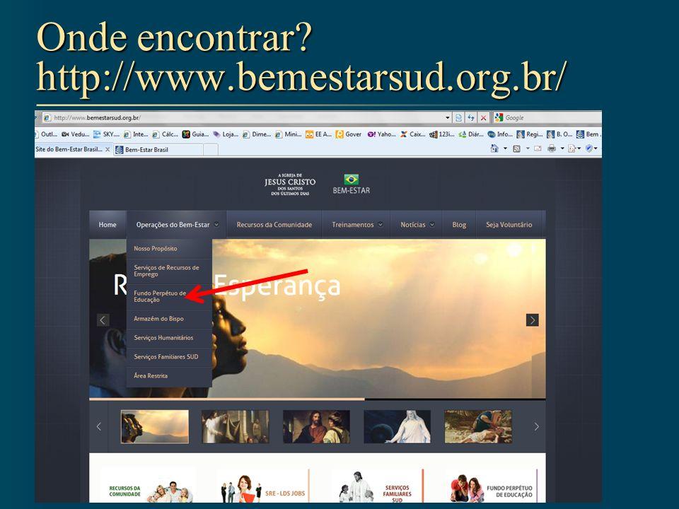 Onde encontrar? http://www.bemestarsud.org.br/