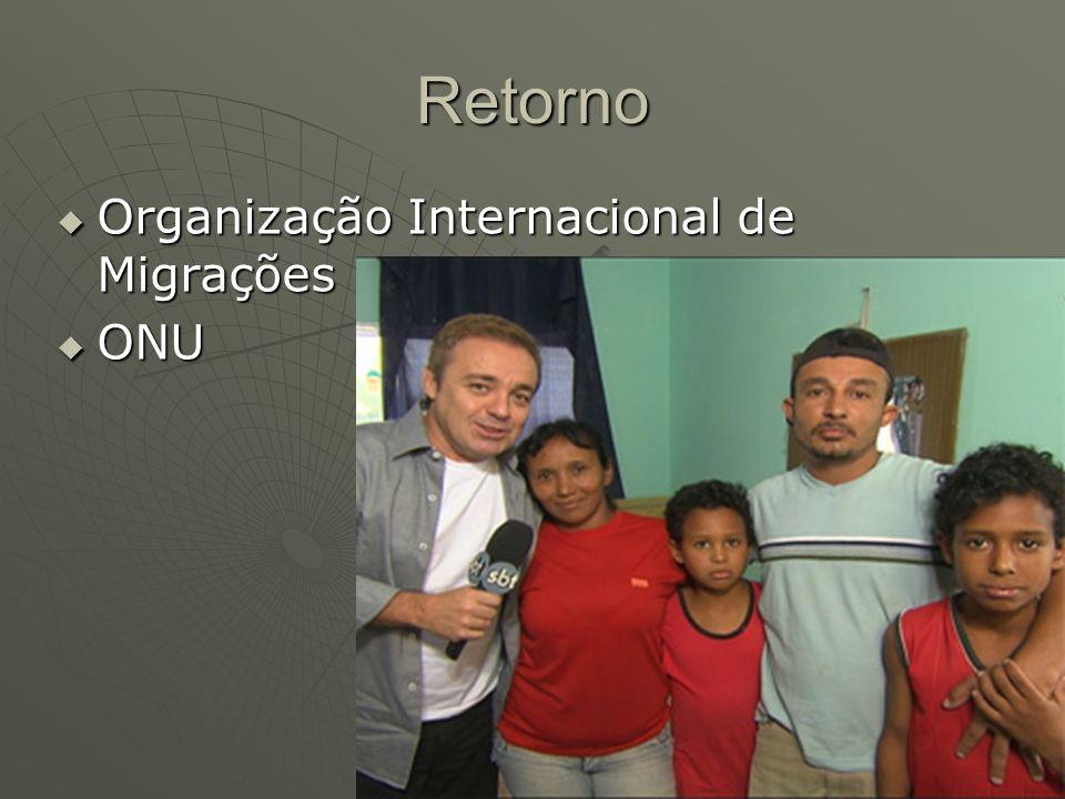 Retorno Organização Internacional de Migrações Organização Internacional de Migrações ONU ONU