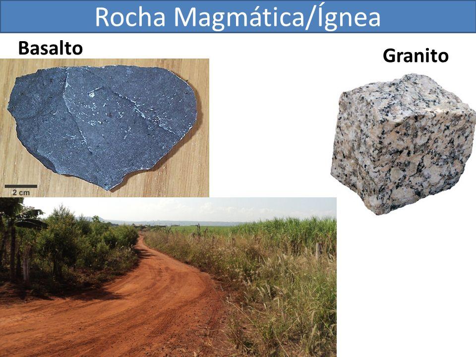 Rocha Magmática/Ígnea Basalto Granito