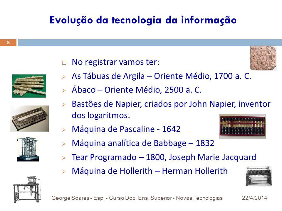 22/4/2014George Soares - Esp.- Curso Doc. Ens.
