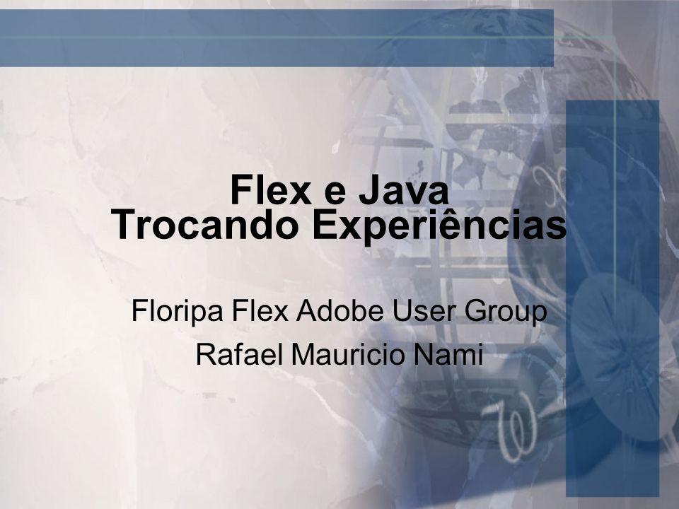 Motivação Trocar experiências nas possíveis integrações entre Java e Flex Discutir possíveis soluções para problemas recorrentes em RIA em geral com Java Discutir próximos temas de encontros do AUG e iniciativas do grupo