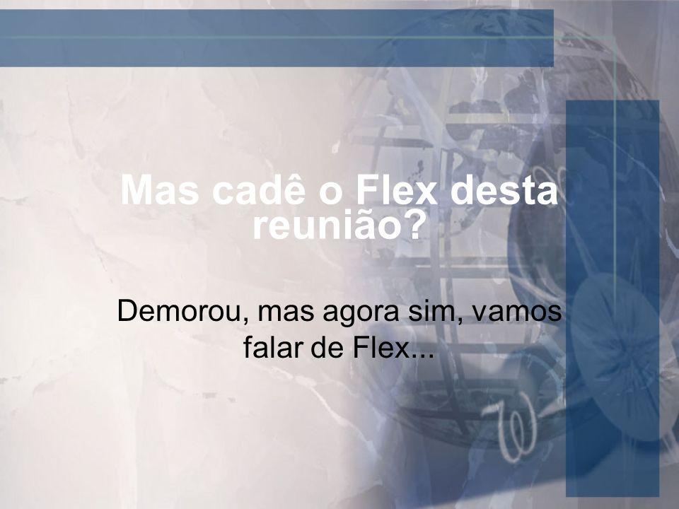 Mas cadê o Flex desta reunião? Demorou, mas agora sim, vamos falar de Flex...