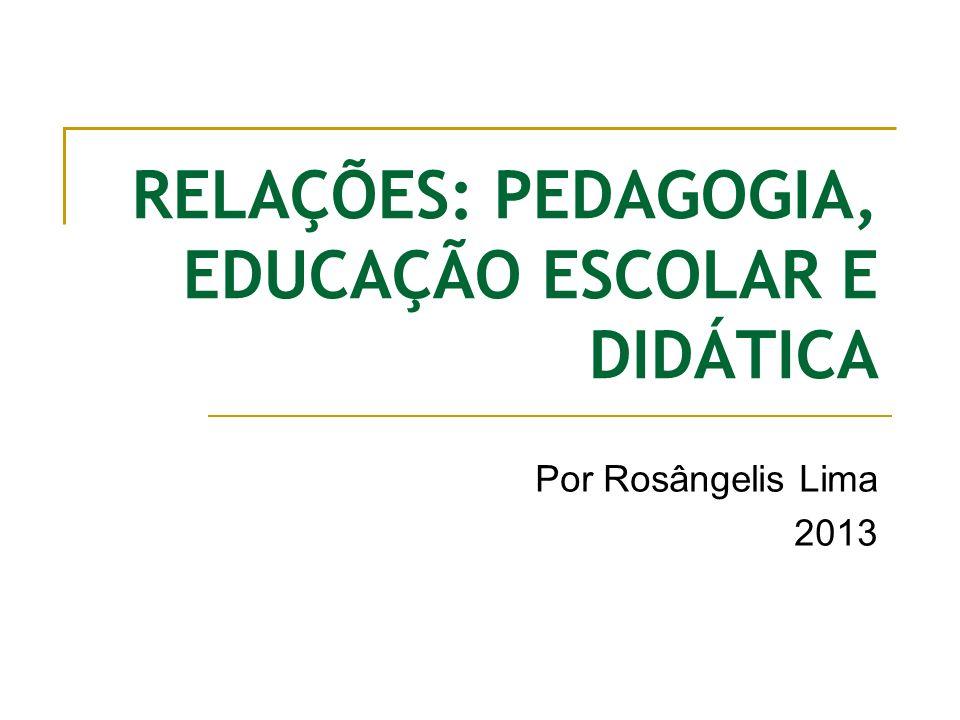 A pedagogia estuda a educação