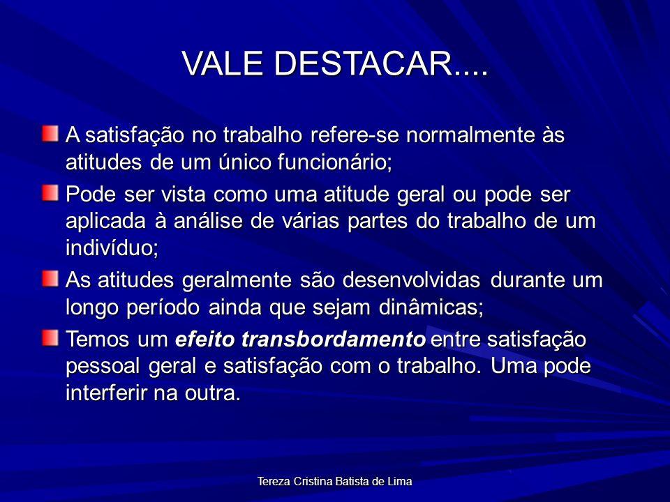Tereza Cristina Batista de Lima VALE DESTACAR....