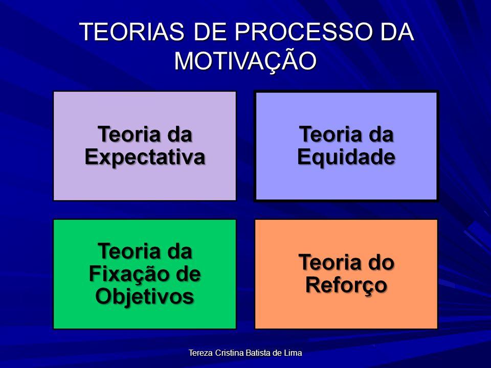 Tereza Cristina Batista de Lima TEORIAS DE PROCESSO DA MOTIVAÇÃO