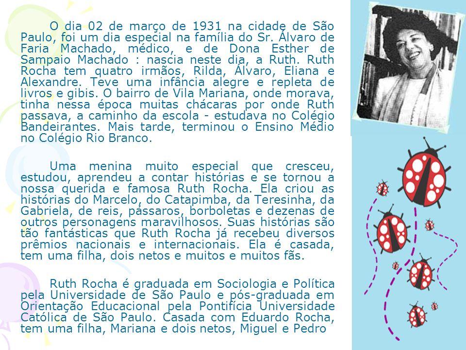O dia 02 de março de 1931 na cidade de São Paulo, foi um dia especial na família do Sr. Álvaro de Faria Machado, médico, e de Dona Esther de Sampaio M