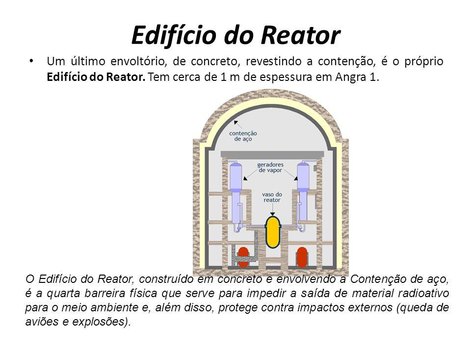 Edifício do Reator Um último envoltório, de concreto, revestindo a contenção, é o próprio Edifício do Reator.