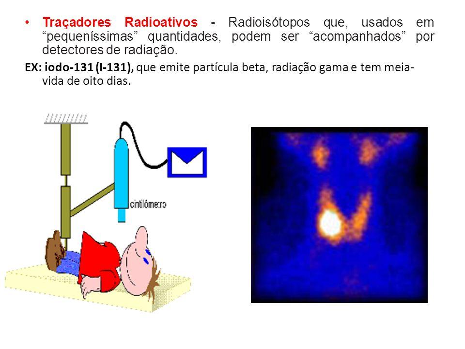 Outros Radioisótopos O tecnécio-99 (Tc-99m) é utilizado, para obtenção de mapeamentos (cintilografia) de diversos órgãos: cintilografia renal, cerebral, hepato-biliar (fígado), pulmonar e óssea; diagnóstico do infarto agudo do miocárdio e em estudos circulatórios; cintilografia de placenta.