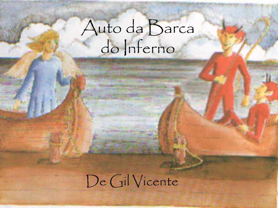 Argumento São representados dois barcos sobre um rio, à espera daqueles que morrem.