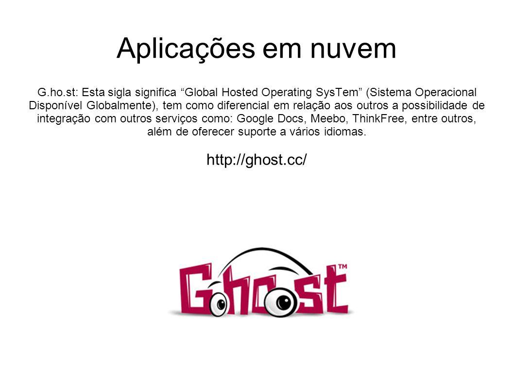 G.ho.st: Esta sigla significa Global Hosted Operating SysTem (Sistema Operacional Disponível Globalmente), tem como diferencial em relação aos outros