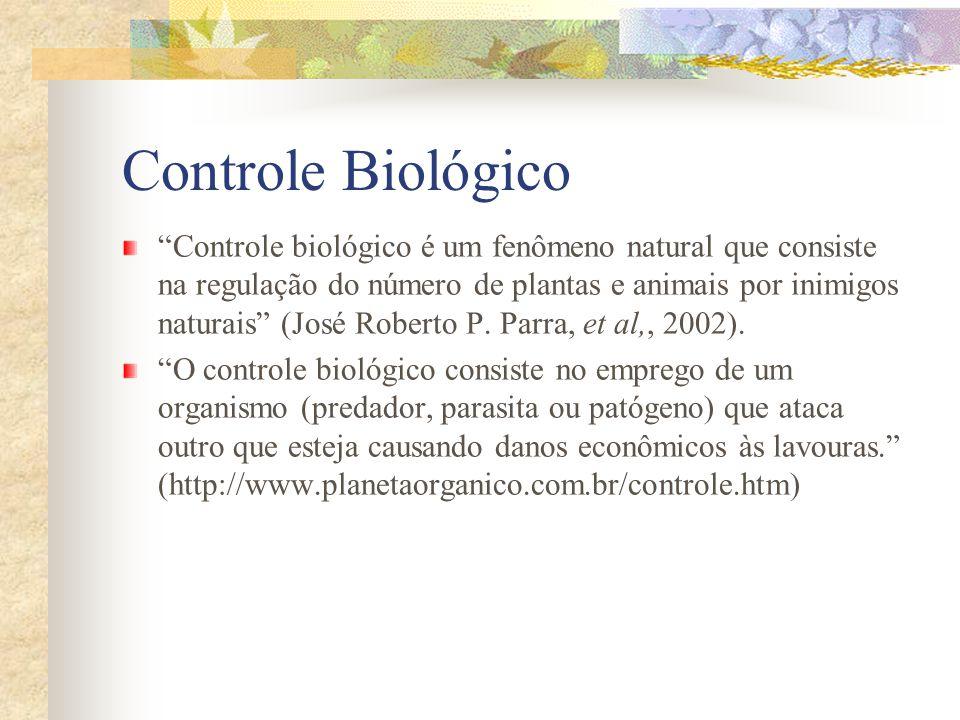 Controle Biológico Controle biológico é um fenômeno natural que consiste na regulação do número de plantas e animais por inimigos naturais (José Rober