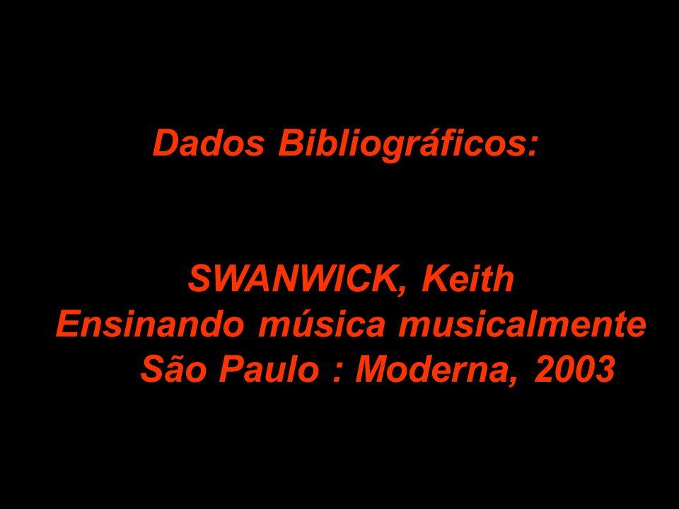 Dados Bibliográficos: SWANWICK, Keith Ensinando música musicalmente São Paulo : Moderna, 2003