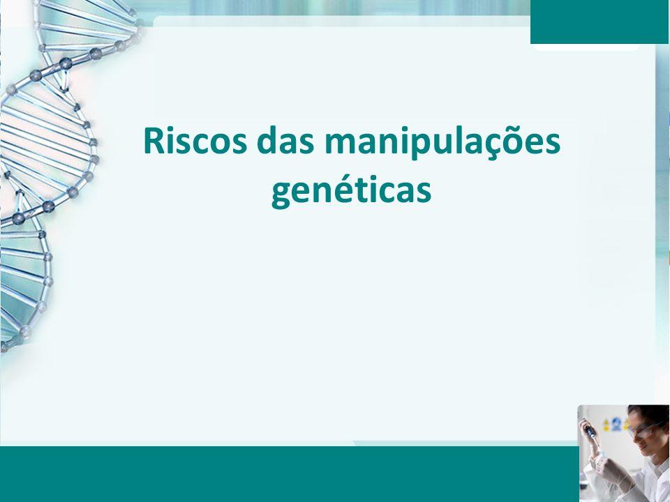 Riscos das manipulações genéticas