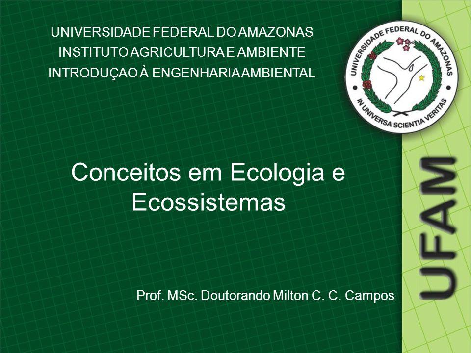 UNIVERSIDADE FEDERAL DO AMAZONAS INSTITUTO AGRICULTURA E AMBIENTE INTRODUÇAO À ENGENHARIA AMBIENTAL Conceitos em Ecologia e Ecossistemas Prof. MSc. Do