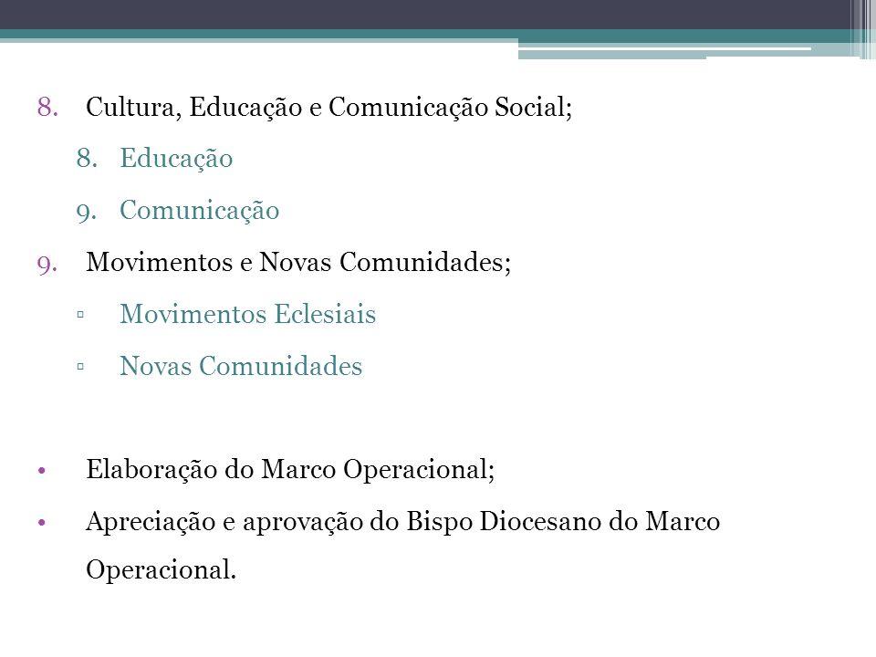 8.Cultura, Educação e Comunicação Social; 8.Educação 9.Comunicação 9.Movimentos e Novas Comunidades; Movimentos Eclesiais Novas Comunidades Elaboração