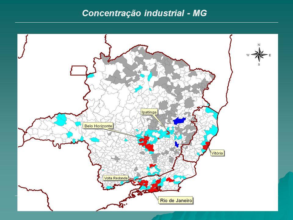 16 Concentração industrial - MG
