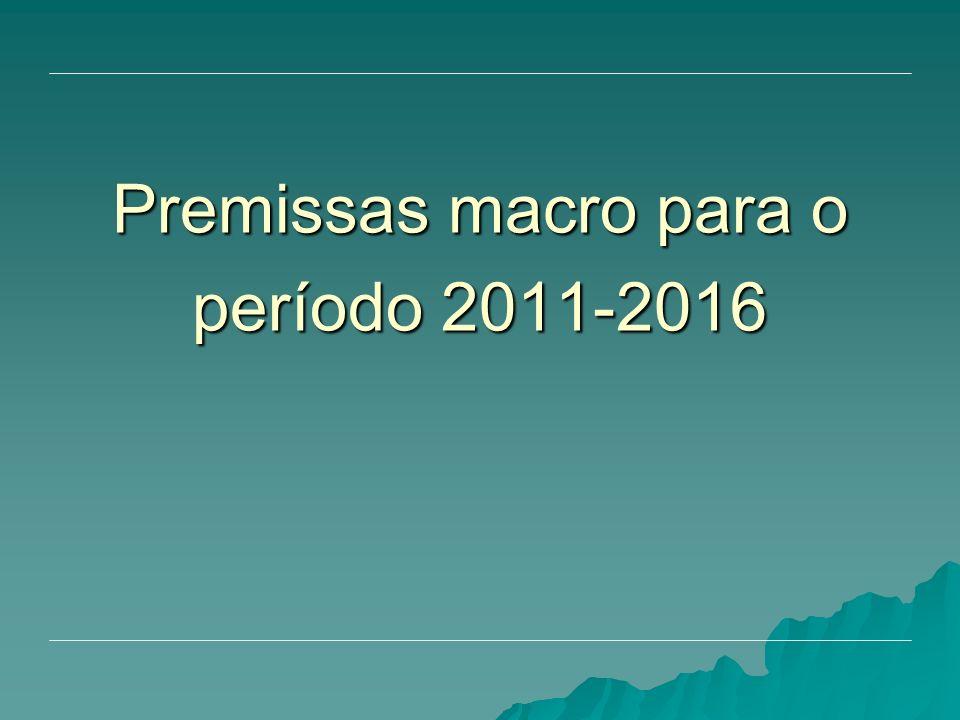 Premissas macro para o período 2011-2016
