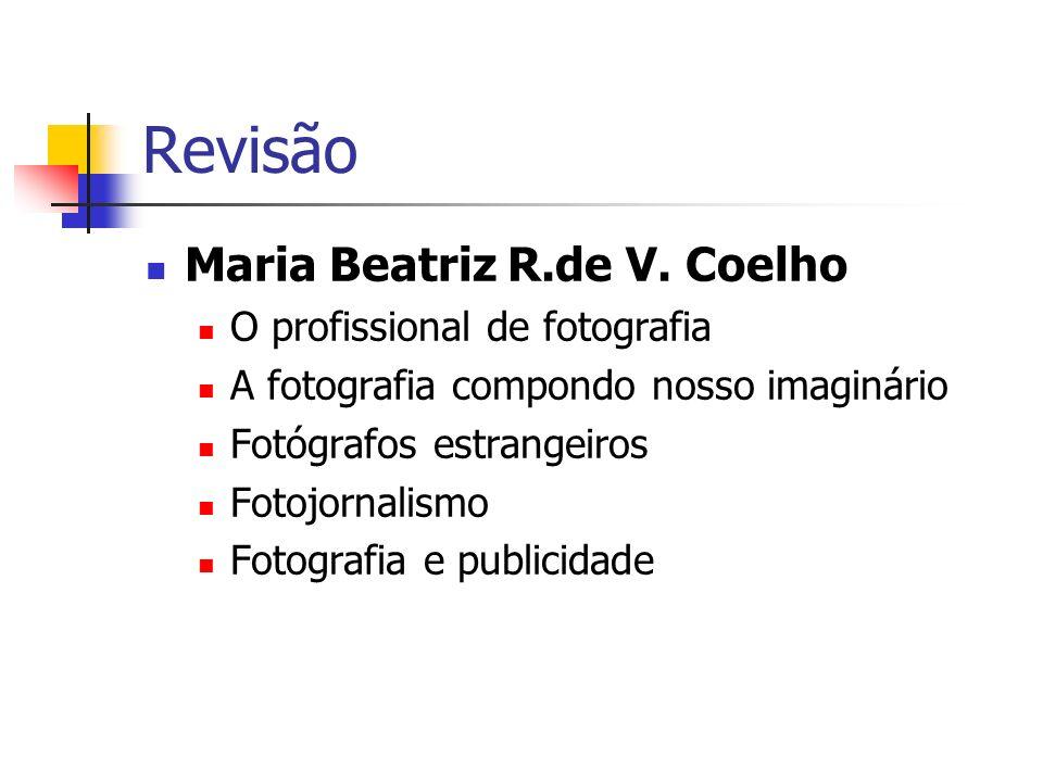 Revisão Maria Beatriz R.de V. Coelho O profissional de fotografia A fotografia compondo nosso imaginário Fotógrafos estrangeiros Fotojornalismo Fotogr
