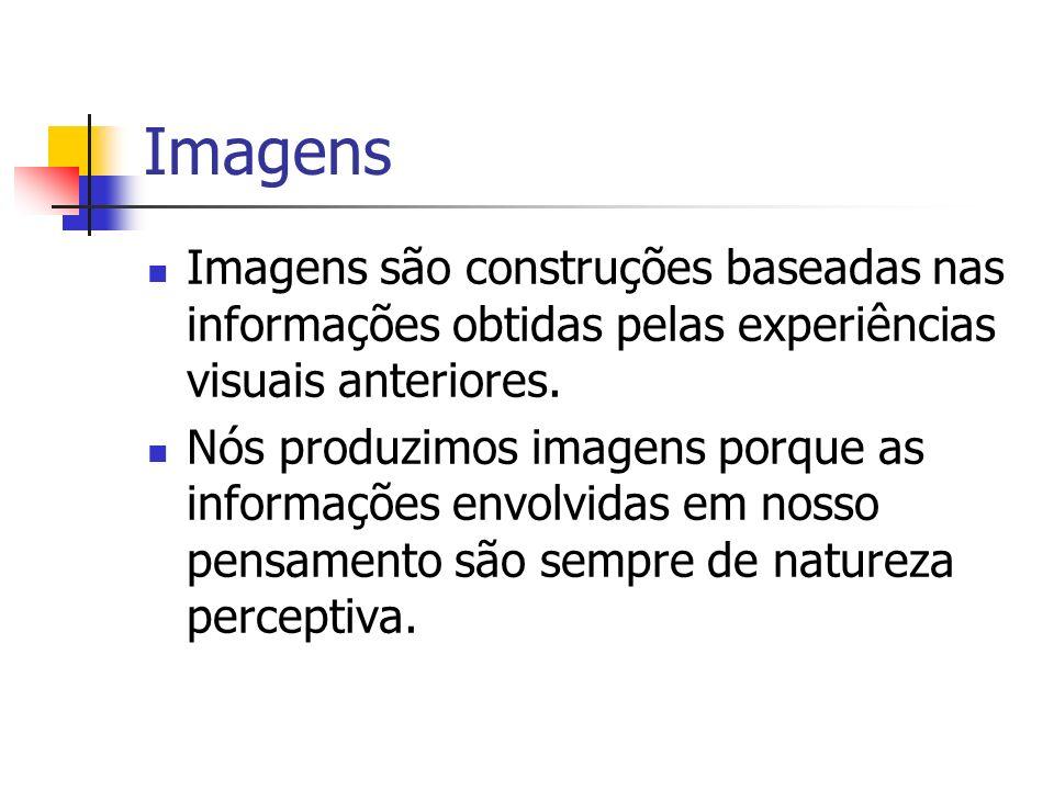 Imagens Imagens são construções baseadas nas informações obtidas pelas experiências visuais anteriores. Nós produzimos imagens porque as informações e