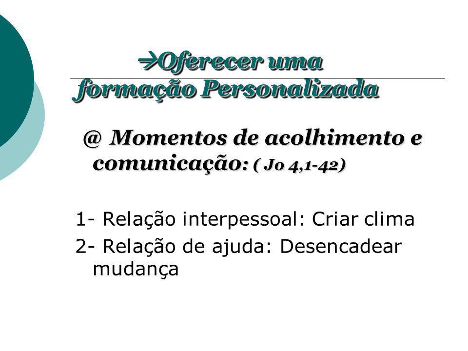 @Momentos de acolhimento e comunicação : ( Jo 4,1-42) @ Momentos de acolhimento e comunicação : ( Jo 4,1-42) 1- Relação interpessoal: Criar clima 2- R