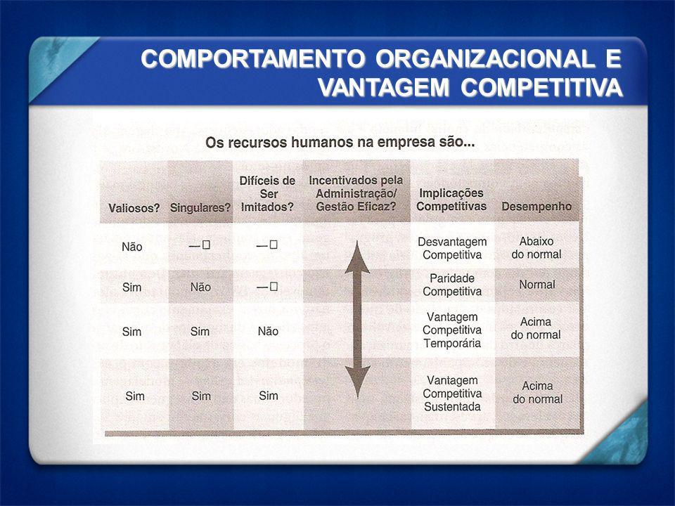 COMPORTAMENTO ORGANIZACIONAL E VANTAGEM COMPETITIVA