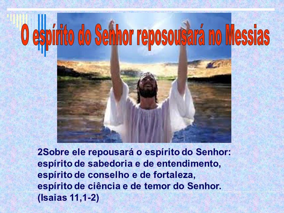 2Sobre ele repousará o espírito do Senhor: espírito de sabedoria e de entendimento, espírito de conselho e de fortaleza, espírito de ciência e de temo
