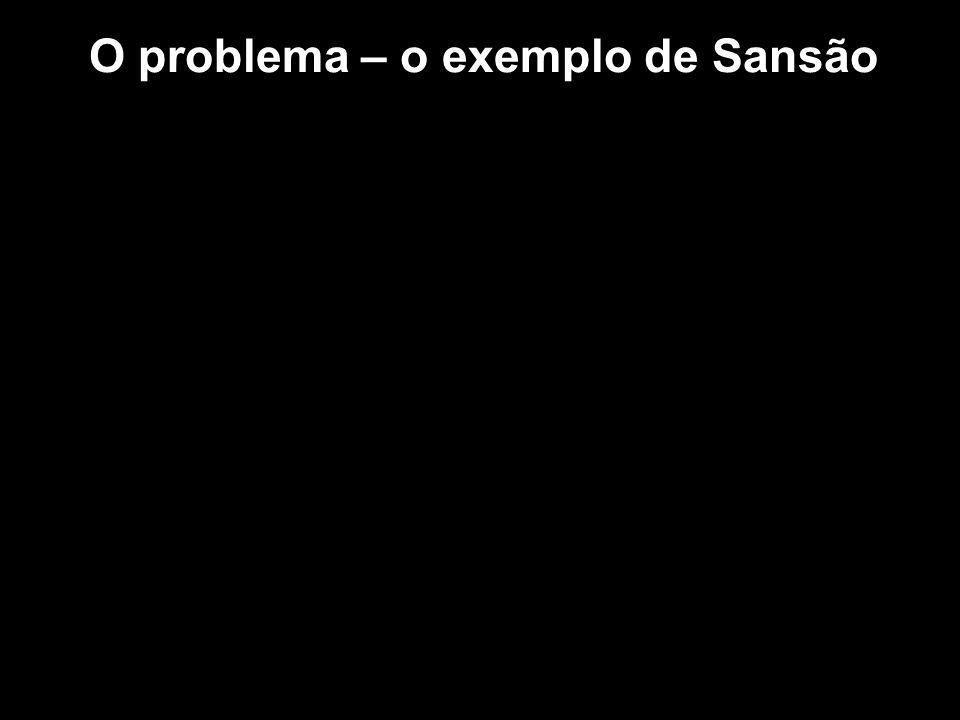 O problema – o exemplo de Sansão