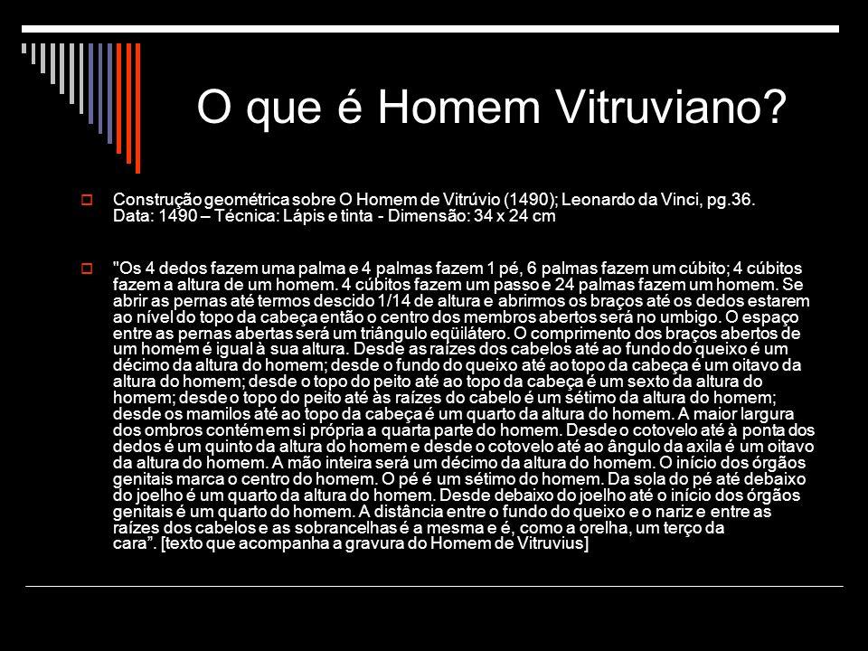O que é Homem Vitruviano.