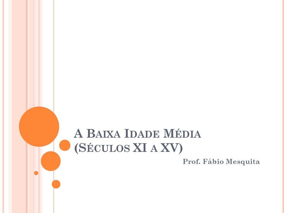 A B AIXA I DADE M ÉDIA (S ÉCULOS XI A XV) Prof. Fábio Mesquita