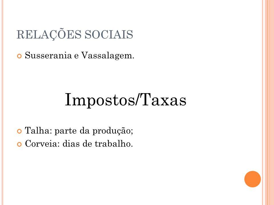 RELAÇÕES SOCIAIS Susserania e Vassalagem.