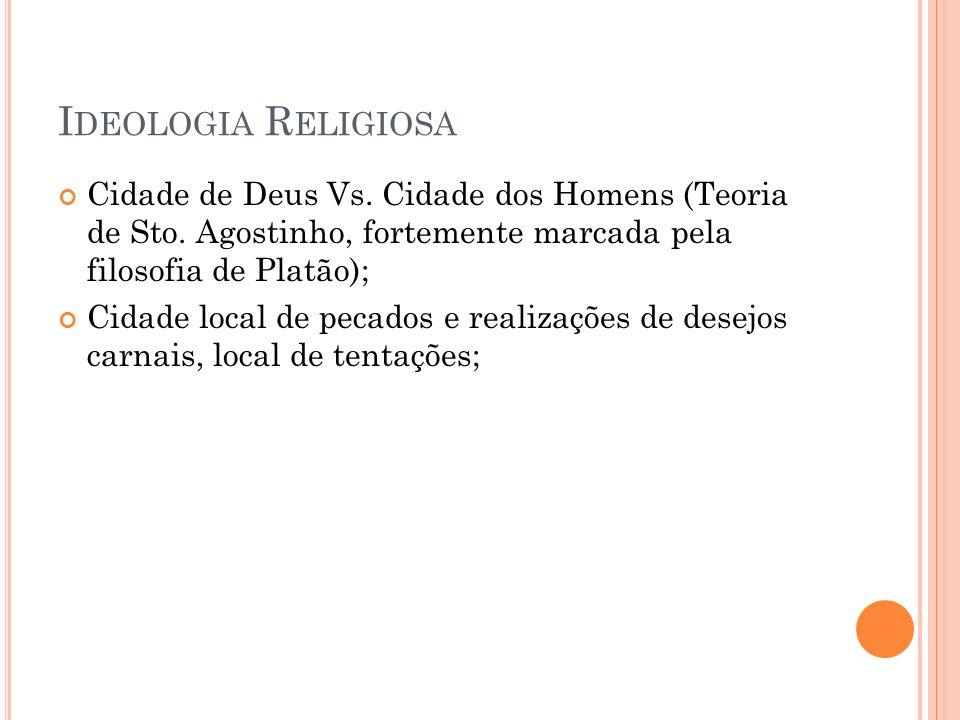 I DEOLOGIA R ELIGIOSA Cidade de Deus Vs.Cidade dos Homens (Teoria de Sto.