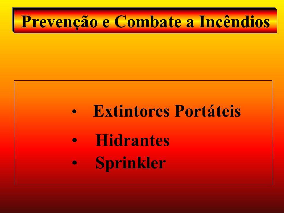 Prevenção e Combate a Incêndios Extintores Portáteis Hidrantes Sprinkler