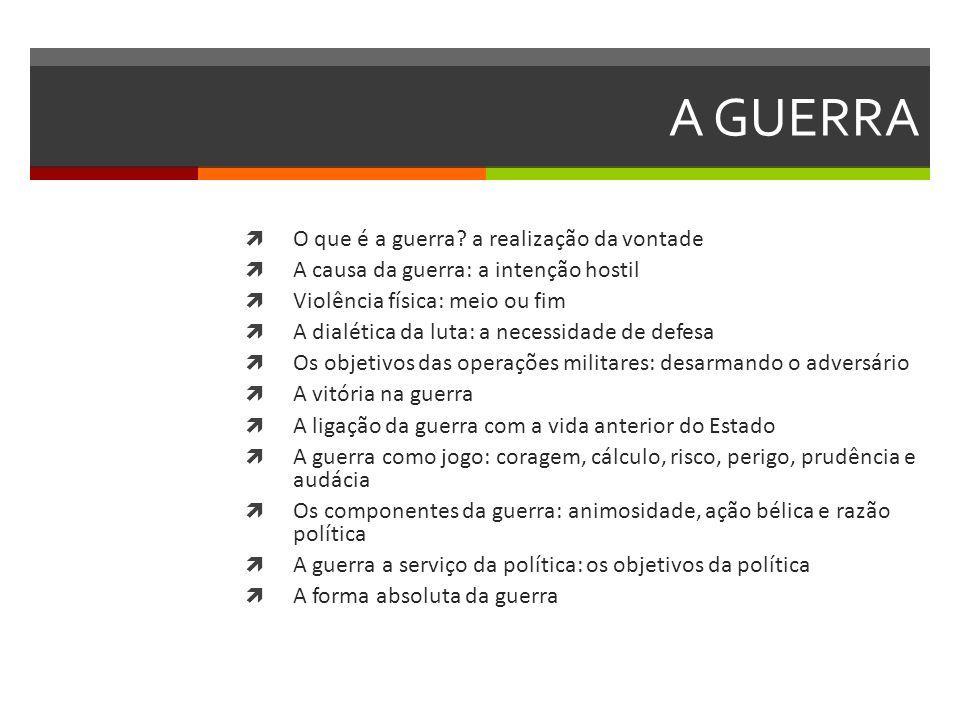 ELEMENTOS DA POTÊNCIA - ARON 1.O espaço ocupado pelas unidades políticas 2.
