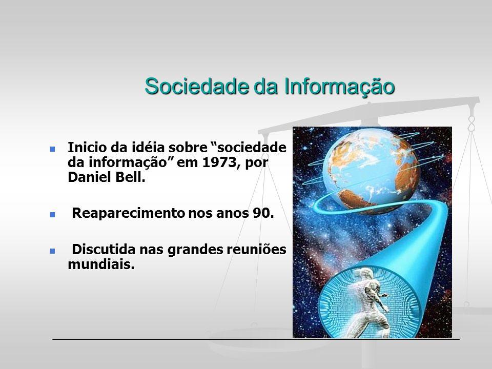 Sociedade da Informação Inicio da idéia sobre sociedade da informação em 1973, por Daniel Bell. Inicio da idéia sobre sociedade da informação em 1973,