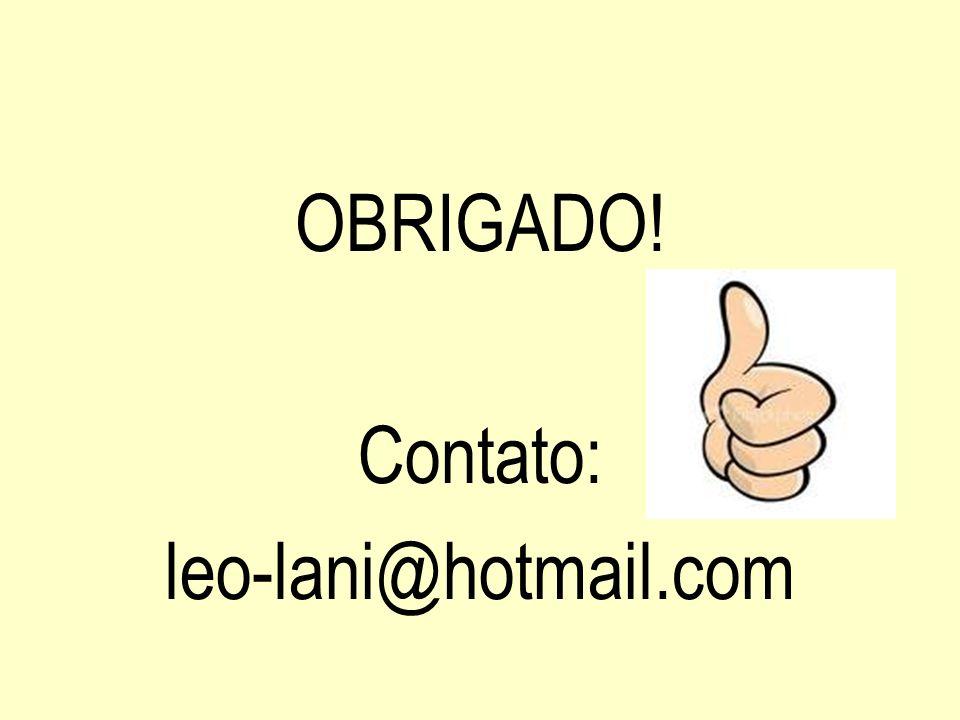 OBRIGADO! Contato: leo-lani@hotmail.com