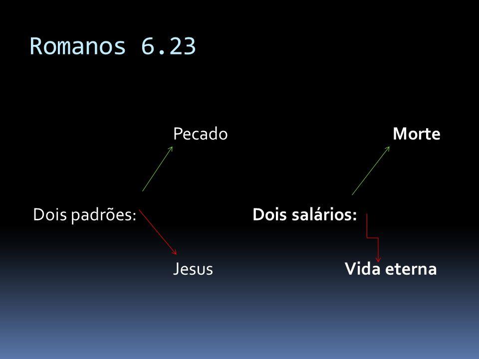 Romanos 6.23 Pecado Dois padrões: Jesus Morte Dois salários: Vida eterna