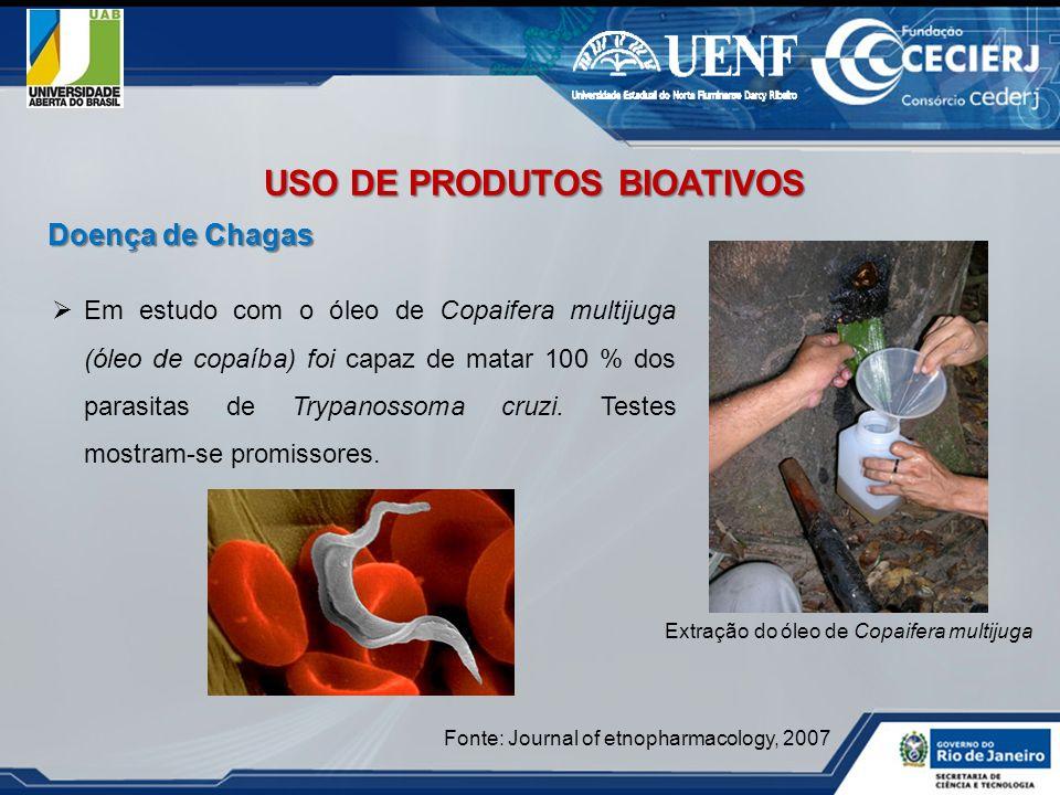 Em estudo com o óleo de Copaifera multijuga (óleo de copaíba) foi capaz de matar 100 % dos parasitas de Trypanossoma cruzi. Testes mostram-se promisso